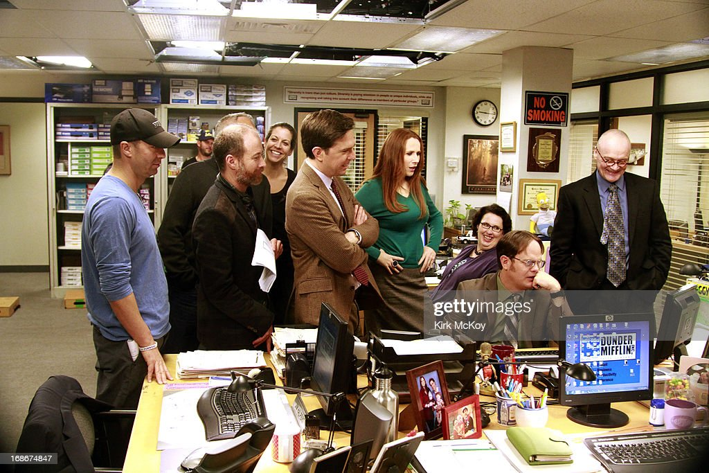 On set images of during film of TV show 'The Office' photographed for Los Angeles Times on May 5, 2013 in Los Angeles, California. PUBLISHED IMAGE.