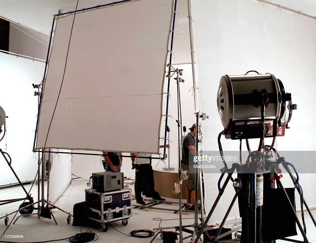 On set of a television commercial production.