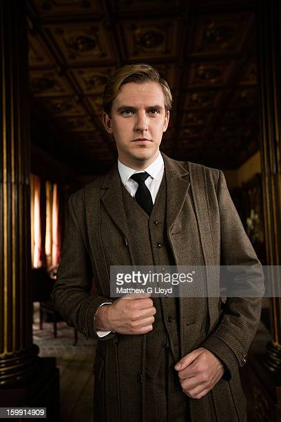 On set of Downton Abbey during production of series III with Dan Stevens playing Matthew Crawley for the Los Angeles Times on June 13 2012 in Newbury...