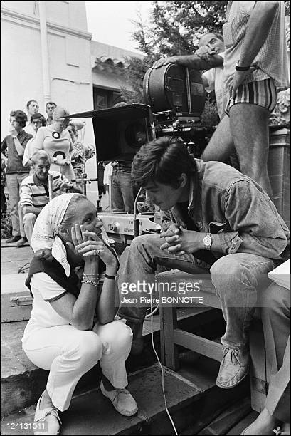 On set of 'La Piscine' directed by Jacques Deray In Saint Tropez France In August 1968 Romy Schneider and Alain Delon