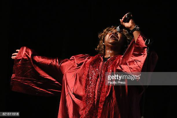 On stage of 'Alieri' Theatre in Turin the Harlem Spirit of Gospel Choir of Anthony Morgan the best American gospel voices cradle of this musical...