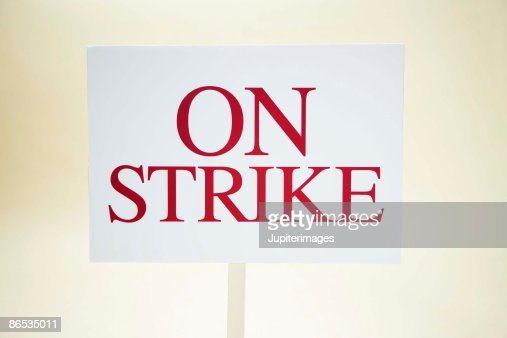 On strike sign : Stock Photo