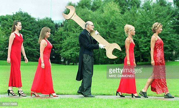 On the 50th birthday of the famous detective game Cluedo characters from the game gather in London 18 August1999 including 50 Miss Scarlets lR Miss...