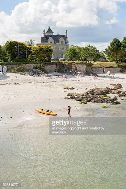 On the beach at Beg Meil-Brittany