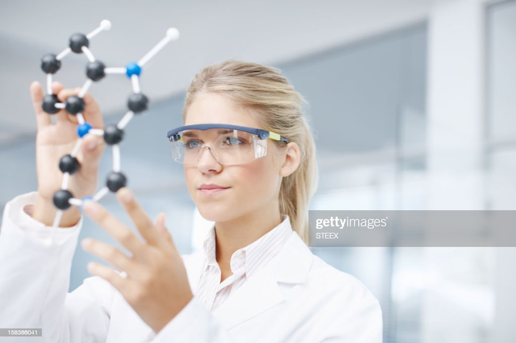 On the brink of a medical break-through : Stock Photo
