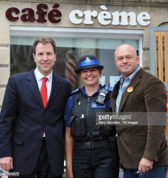 On the campaign trail Ross Kemp supporting the local North East Somerset Labour candidate Dan Norris meet up with Police Community Support Officer...