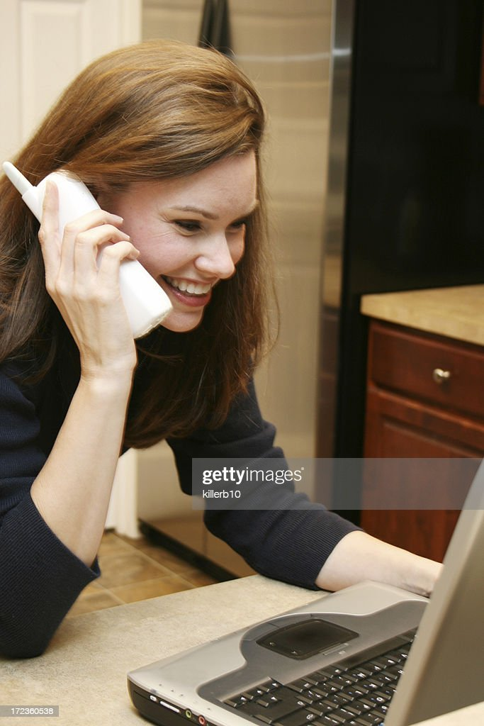 On the computer : Stock Photo