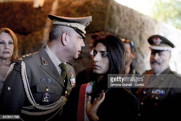On the day of the settlement as mayor of Rome Virginia Raggi went to the Mausoleum of the Fosse Ardeatine to pay tribute to the victims of Nazism and...