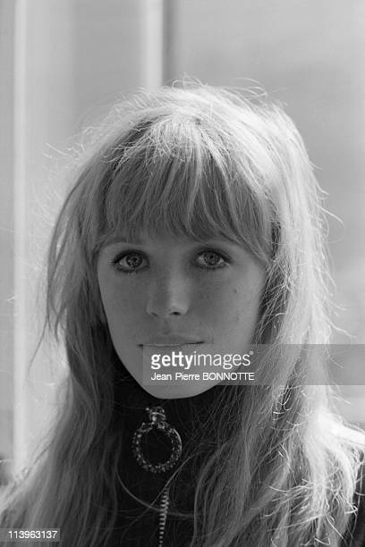 On the det of the movie The Girl on a Motocycle in Germany in September 1967British singer and actress Marianne Faithfull on the set of the movie...