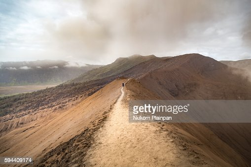 On the edge of the crater, Mt. Bromo, East Java, Indonesia