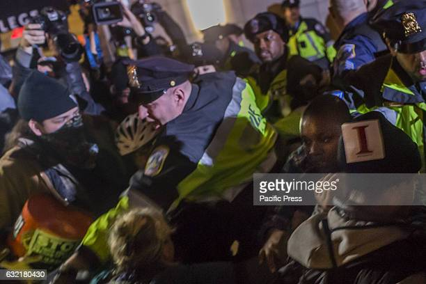 On the eve before Donald Trump is sworn in as the 45th President of the United States in a preinauguration protest on January 19 hundreds of...