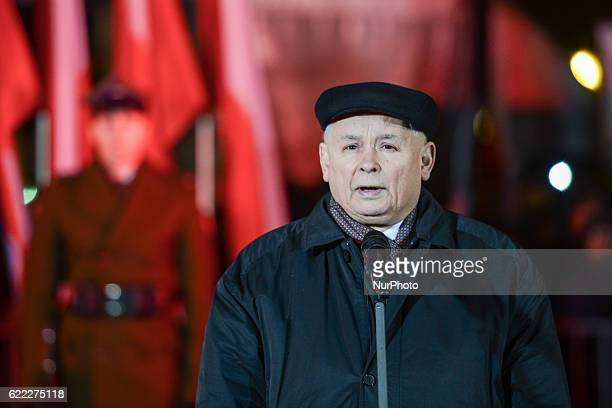 On the eve of the Polish Independence Day Beata Szydlo the Polish PM Jaroslaw Kaczynski the Chairman of PIS members of the Polish government and...
