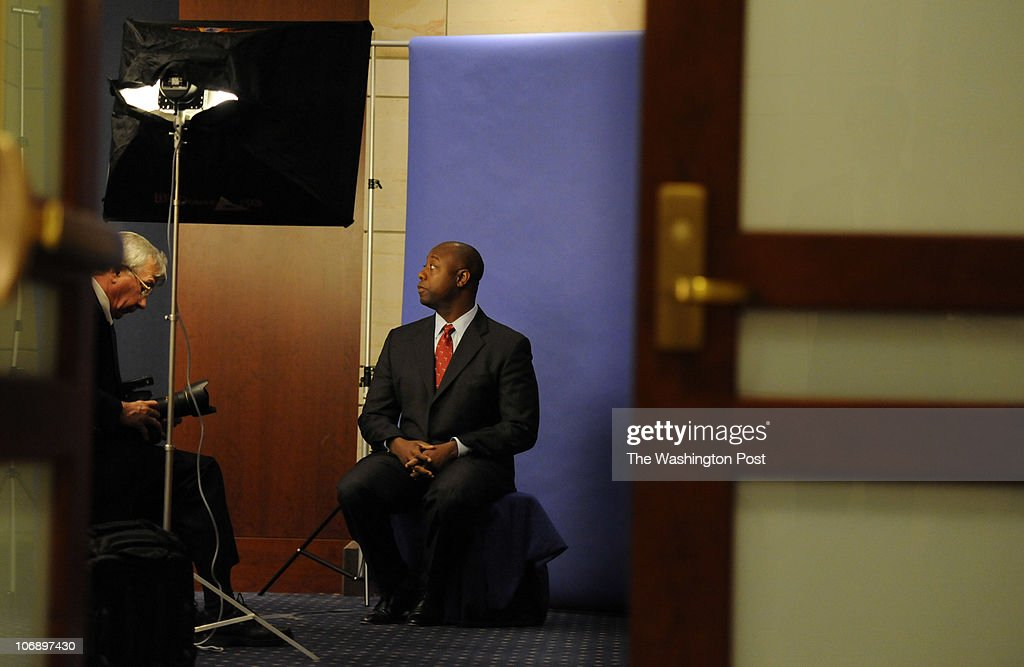 On the first day of the 'Lame Duck' session in Congress, Congressman-Elect Tim Scott (R-SC) participates in the first morning of the Freshman Orientation on Capitol Hill Monday, November 15, 2010. Congressman-Elect Tim Scott (R-SC) has his voting picture taken.
