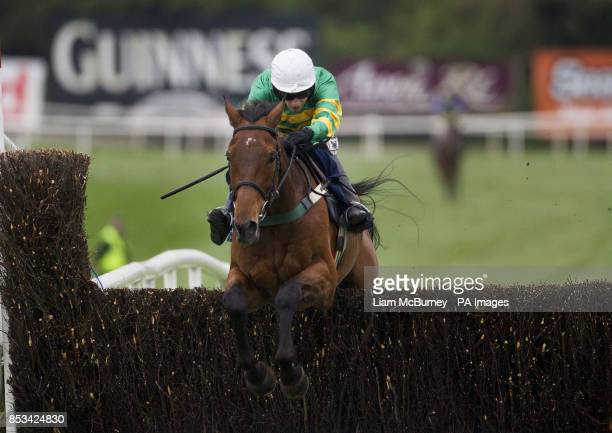 On The Fringe ridden by Nina Carberry wins The Donohue Marquees Champion Hunters Steeplechase during day four of the Punchestown Festival at...