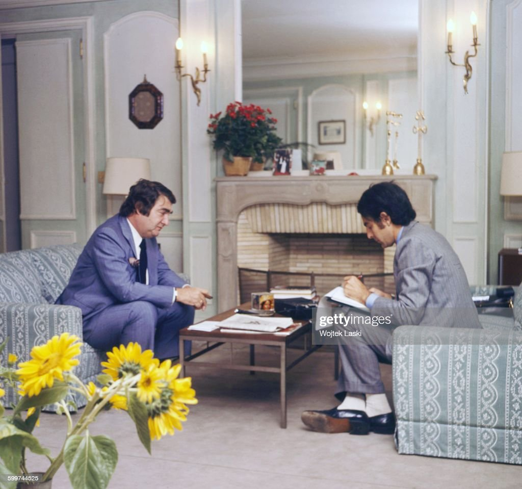 American journalist Pierre Salinger (1925 - 2004), Press Secretary to U.S. Presidents John F. Kennedy and Lyndon B. Johnson. Paris, France, circa 1978.