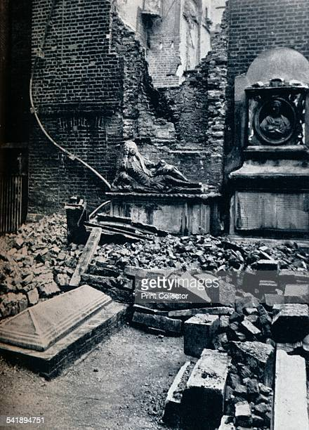 'On the left is the Master's House the tombstone in the foreground commemorates Oliver Goldsmith' 1941 On May 10th a German air raid set the roof of...