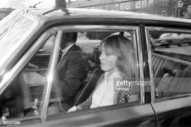 On the night of his disappearance Colquhoun was waiting for him at the Clermont club Pictured leaving her Chelsea Square home 12th November 1974...