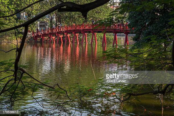 On the northern shore of Hoan Kiem Lake lies Jade Island on which the Temple of the Jade Mountain or Ngoc Son Temple stands The temple honors...