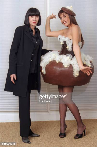 On the occasion of the yearly European Chocolate Festival celebrities wear for the opening ceremony dresses and accessories made of chocolate...