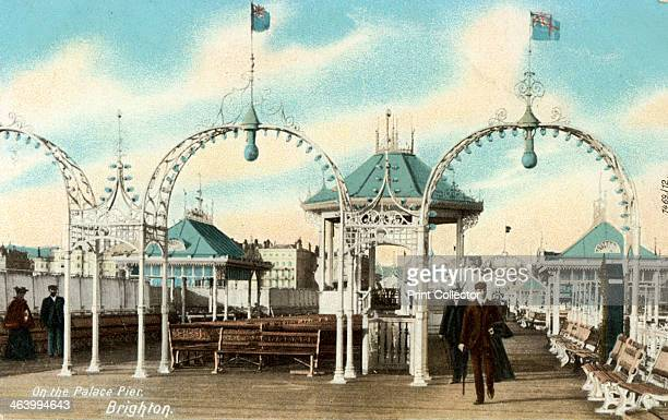 On the Palace Pier Brighton Sussex c1900s
