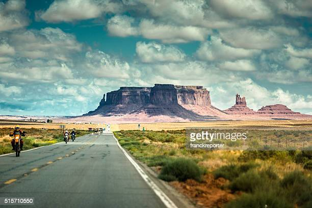 on the road on the Monument valley national park