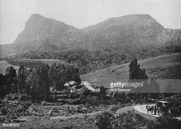 On the Road to Hakgalla Hakgalla Rock in the Distance' c1890 From The Hundred Best Views of Ceylon [Plâté Ltd Colombo Kandy Nuwara Eliya 1910] Artist...