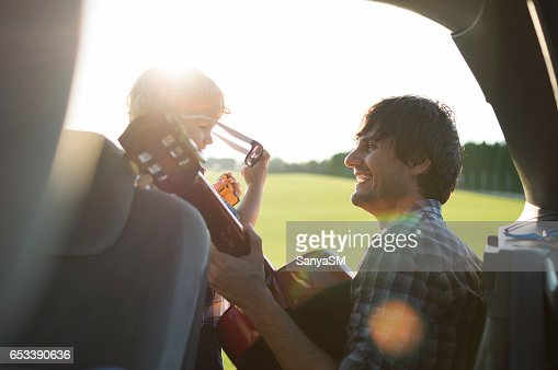 On the road trip with my dad : Stock Photo