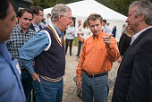'On the Road with Senator Rand Paul' Senator Rand Paul attends a BBQ event at the Donnelly Barn in Bowling Green Kentucky on October 12th 2014