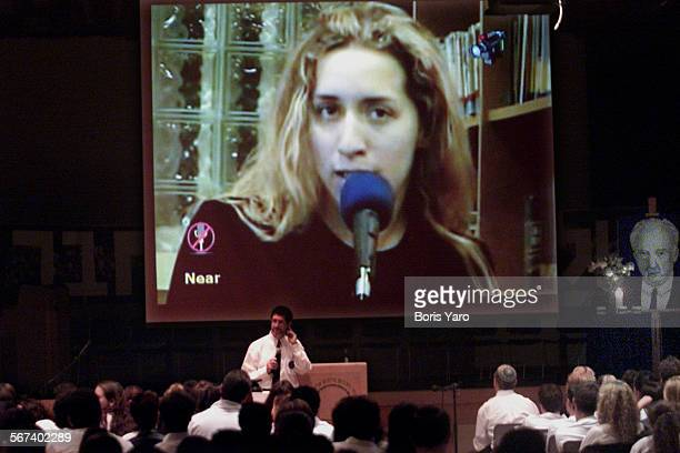 On the screen is Tal Goldenberg who is a student in Israel and had been an exchange student at Milken Community High School 2 years ago She talks to...
