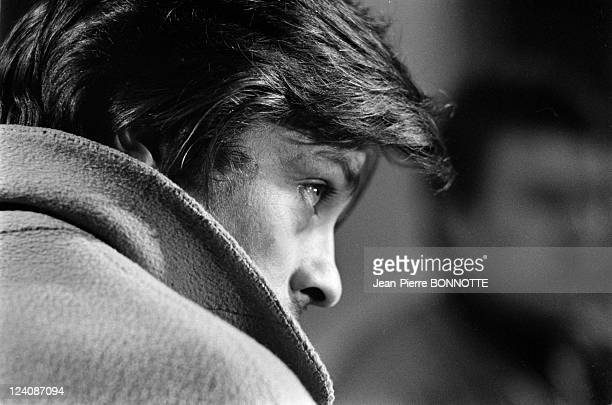 On the Set of the Movie 'Le Professeur' In Italy In March 1972 Alain Delon on the set of the Italian and French drama film 'Le Professeur' directed...