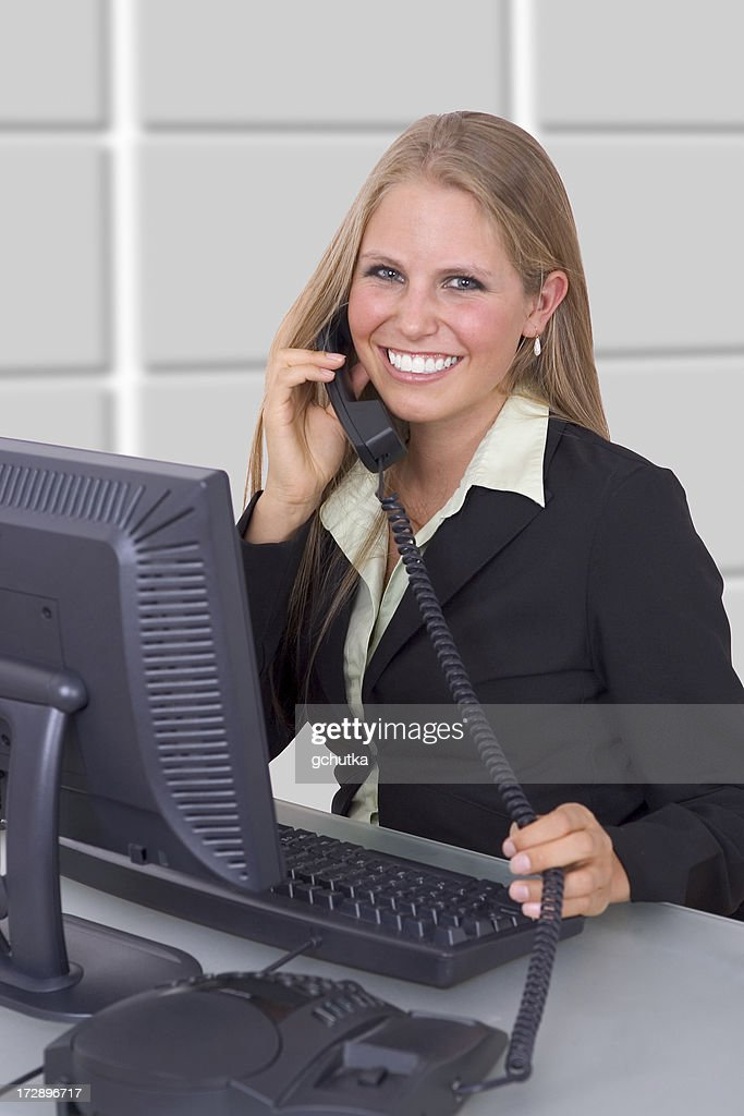 On the Telephone : Stock Photo