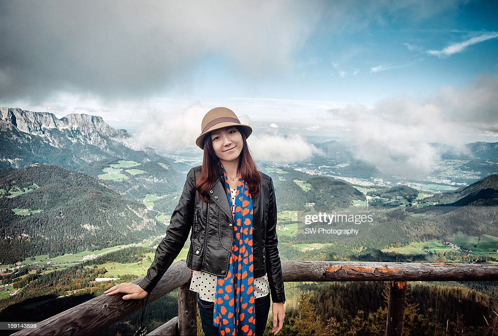 on the top of the Eagle's Nest : Stock Photo