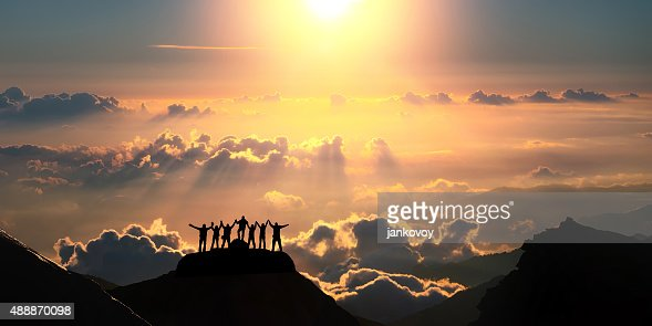 On the top of the world together : Stock Photo