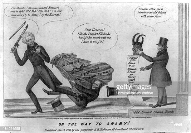 On the way to Araby Edward Williams Clay Henry Robinson circa 1836 Lithograph print on wove paper Political cartoon satirizing the Jackson...