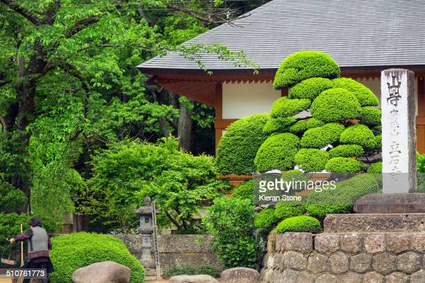 On the way to the temple grounds of Yamadera Yamagata City Japan