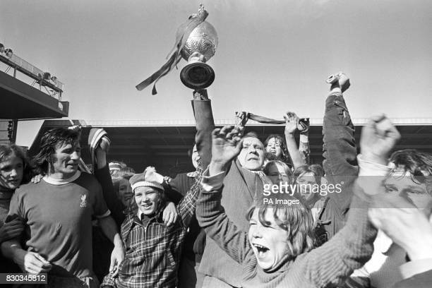 On this day in 1888 The English Football League was established This image from 1973 shows Liverpool manager Bill Shankley holding aloft the League...