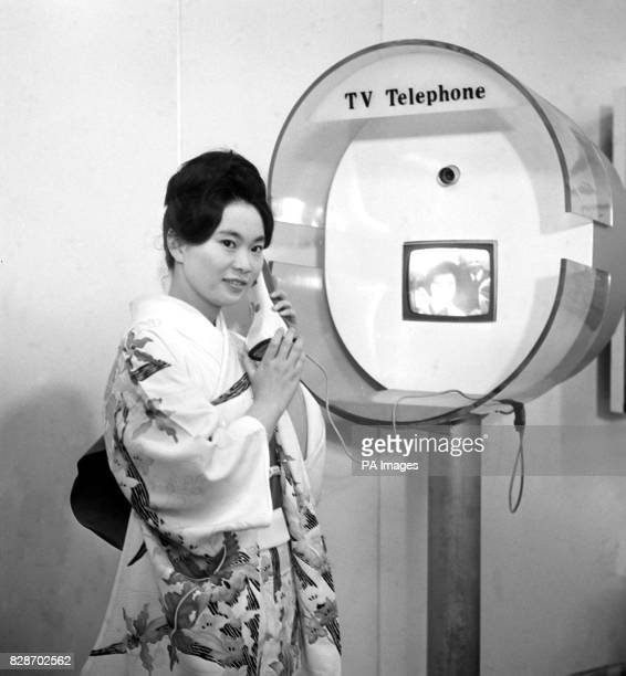 On this day in 1964 a floating Japanese Trade Fair docked at Tilbury docks TwentyTwoyearold Fusako Okado from Kyoto Japan demonstrates with a...
