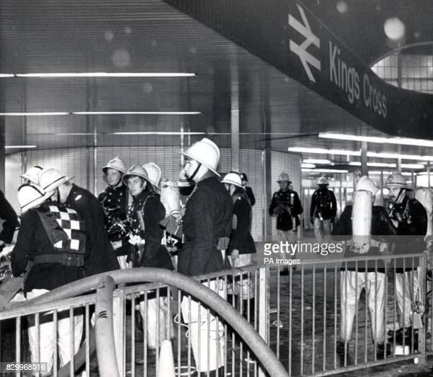 On this Day in History A major fire breaks out at King's Cross Underground Station killing 31 all told Some of the 150 firemen tending the blaze at...