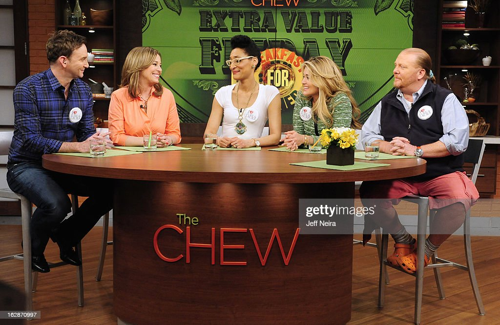 "THE CHEW - On this Extra Value Friday, March 1, 2013, co-host Clinton Kelly teams with ""Southland's"" Regina King to create Cowboy Rice and Fried Eggs and ""General Hospital's"" Genie Francis joins co-host Mario Batali to create Prosciutto and Potato Frittata, in honor of the soap's 50th Anniversary. 'The Chew' airs MONDAY - FRIDAY (1-2pm, ET) on the ABC Television Network. BATALI"