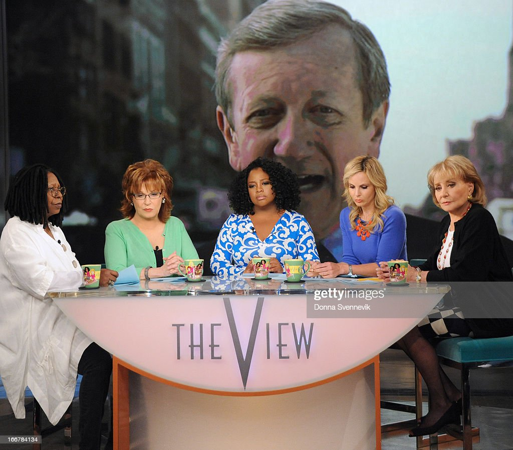 "THE VIEW - (4.16.13) On today's show, guests include, ABC News' Brian Ross via satellite from Boston with the latest news on the bombings at the Boston Marathon; Daphne Oz (ABC's ""The Chew""; author, Relish); and Jonny Lee Miller (""Elementary""). 'The View' airs Monday-Friday (11:00 am-12:00 pm, ET) on the ABC Television Network. WALTERS"