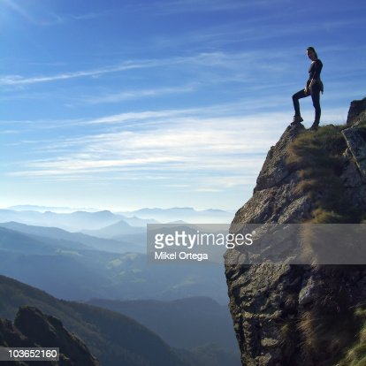 On top of the mountain : Foto de stock