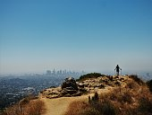 Overlooking Los Angeles from the peak of Griffith Park