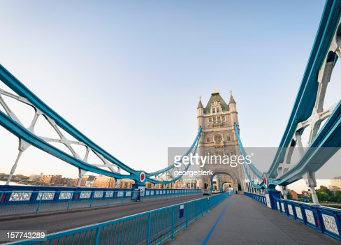 On Tower Bridge in London