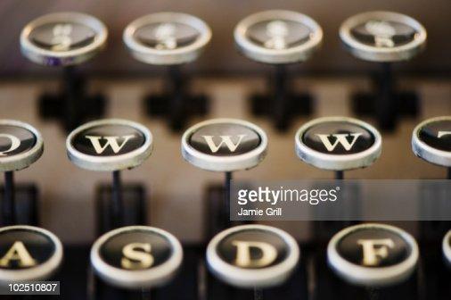 'WWW' on typewriter keyboard : Stock Photo