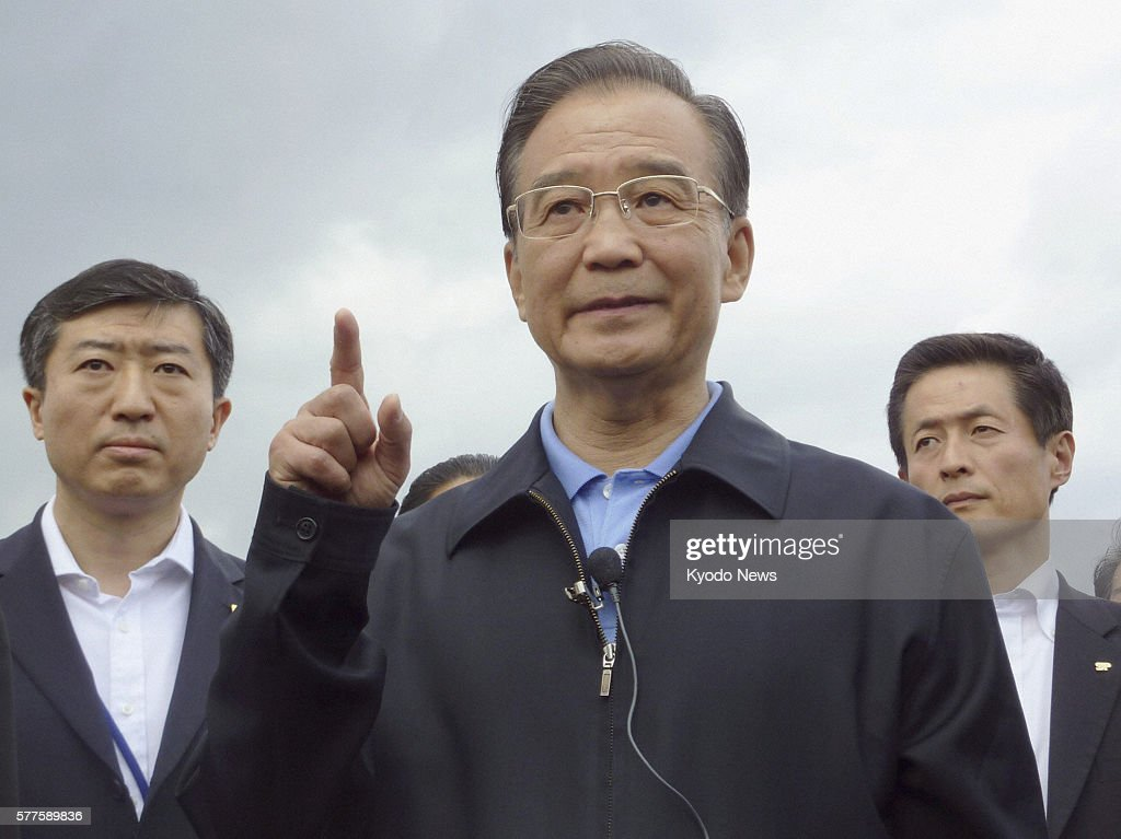 Onagawa Japan Chinese Premier Wen Jiabao speaks about Mitsuru Sato a Japanese man who helped evacuate 20 Chinese trainees before being killed in the...
