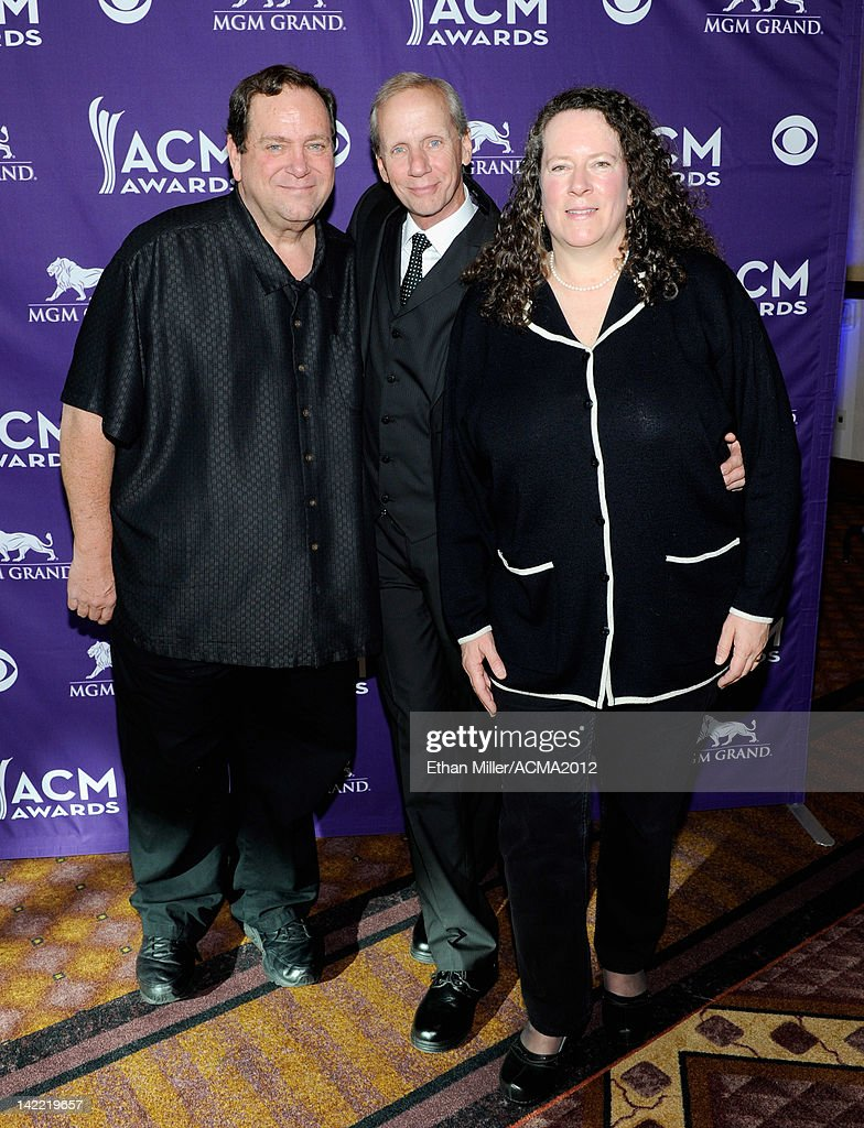 On-Air Personality of the Year for Small Market Winners KKNU-FM Bill Barrett, Tim Fox and Tracy Berry attend the ACM Radio Awards Reception at the MGM Grand Hotel/Casino on March 31, 2012 in Las Vegas, Nevada.