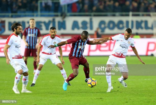 Onazi of Trabzonspor in action against Charles of Antalyaspor during a Turkish Super Lig match between Trabzonspor and Antalyaspor at Medical Park...