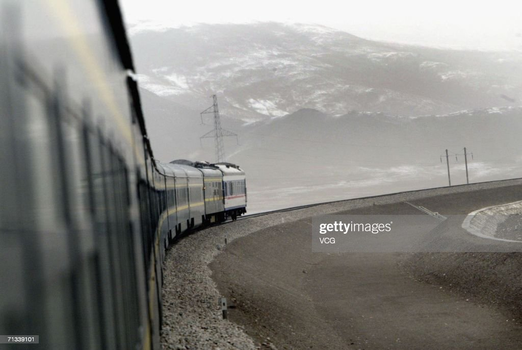 Onboard a train during a trial run of the 1,956-kilometer-long (1,215 miles) Qinghai-Tibet railway, linking Xining, capital of Qinghai Province, with Lhasa, capital of Tibet Autonomous Region in China on June 29, 2006. The train line is the world's highest and longest plateau railroad and also the first railway connecting Tibet with other parts of China. Some 960 kilometers (576 miles) of its track are located 4,000 meters (13,120 feet) above sea level and the highest point is 5,072 meters (16,636 feet), according to state media.