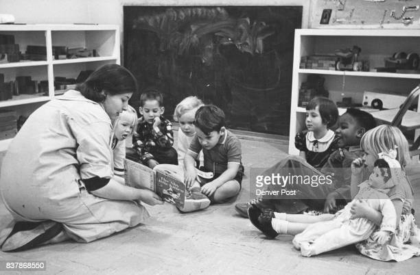 Once there was a shy Little Kitten Miss Clare Silverman staff teacher at Montview Cooperative Nursery School reads to Patricia Leidholt 125 Southmoor...