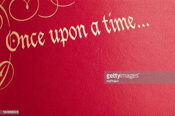 Once upon a time red leather book cover
